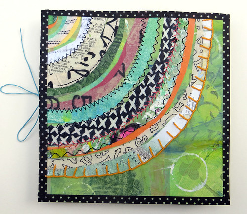handmade book green recycled circle