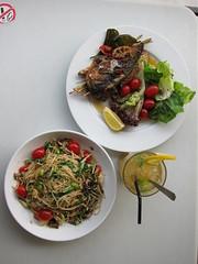 Summer Pasta + Roasted Fish + Isotonic Honey Orang…