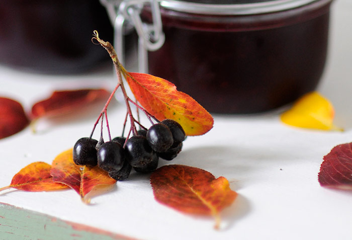 Black Chokeberry And Apple Jam