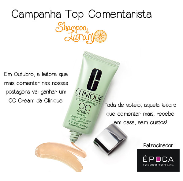Top Comentarista agora ganha presente: CC Cream da Clinique