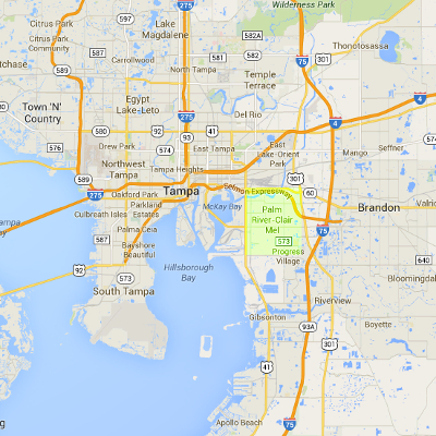 Clair-mel palm river map