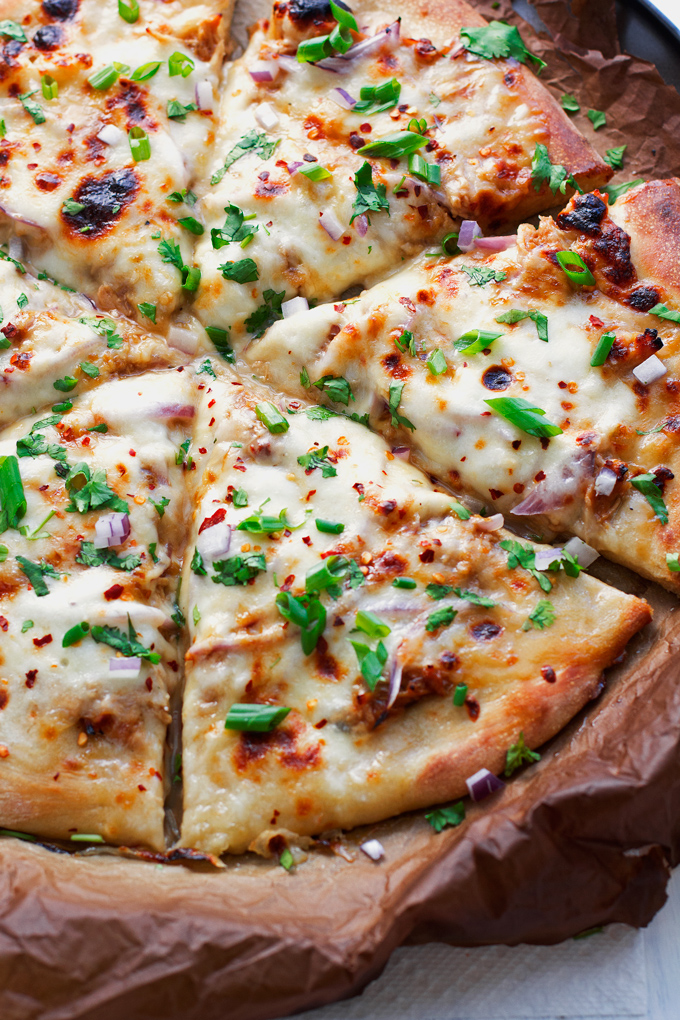 Korean BBQ Chicken Pizza