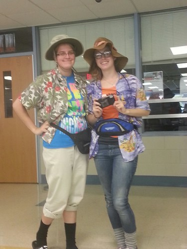 Michellle and me at Tacky Tourist day