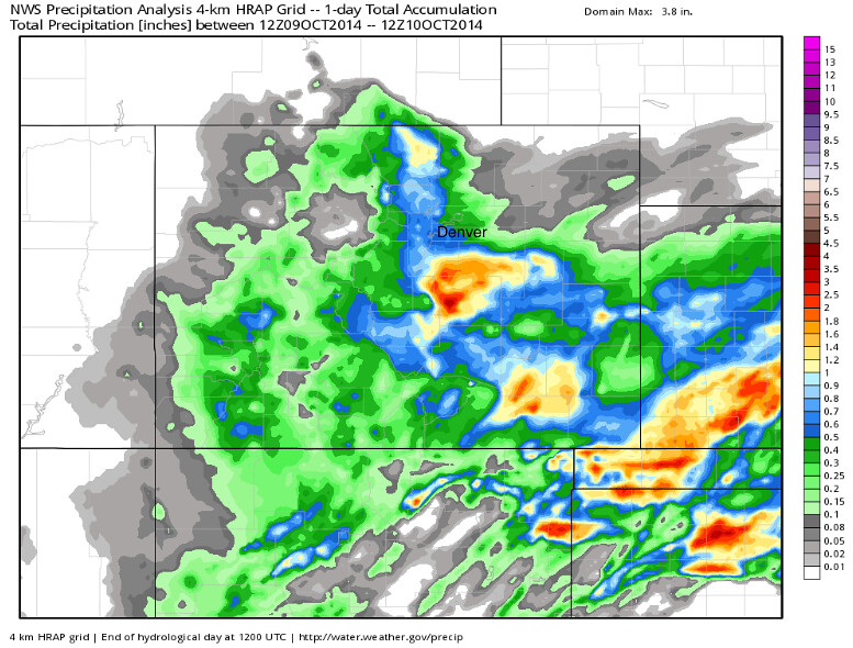 Rainfall Totals Map Colorado | WeatherBell Analytics