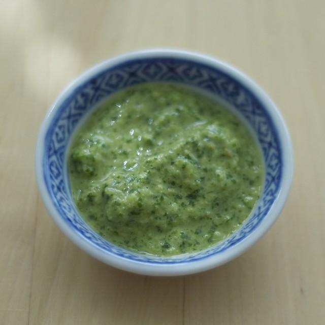 Cilantro cucumber chutney