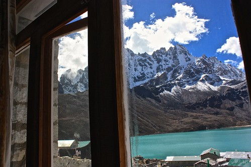 Gokyo lunch with a view