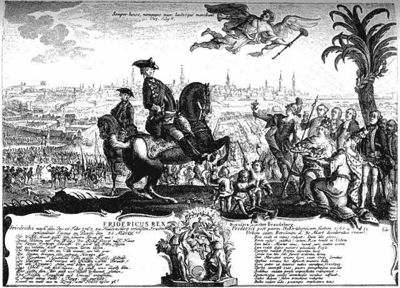 Frederic II entering Berlin, at 30 March 1763, after signing the peace