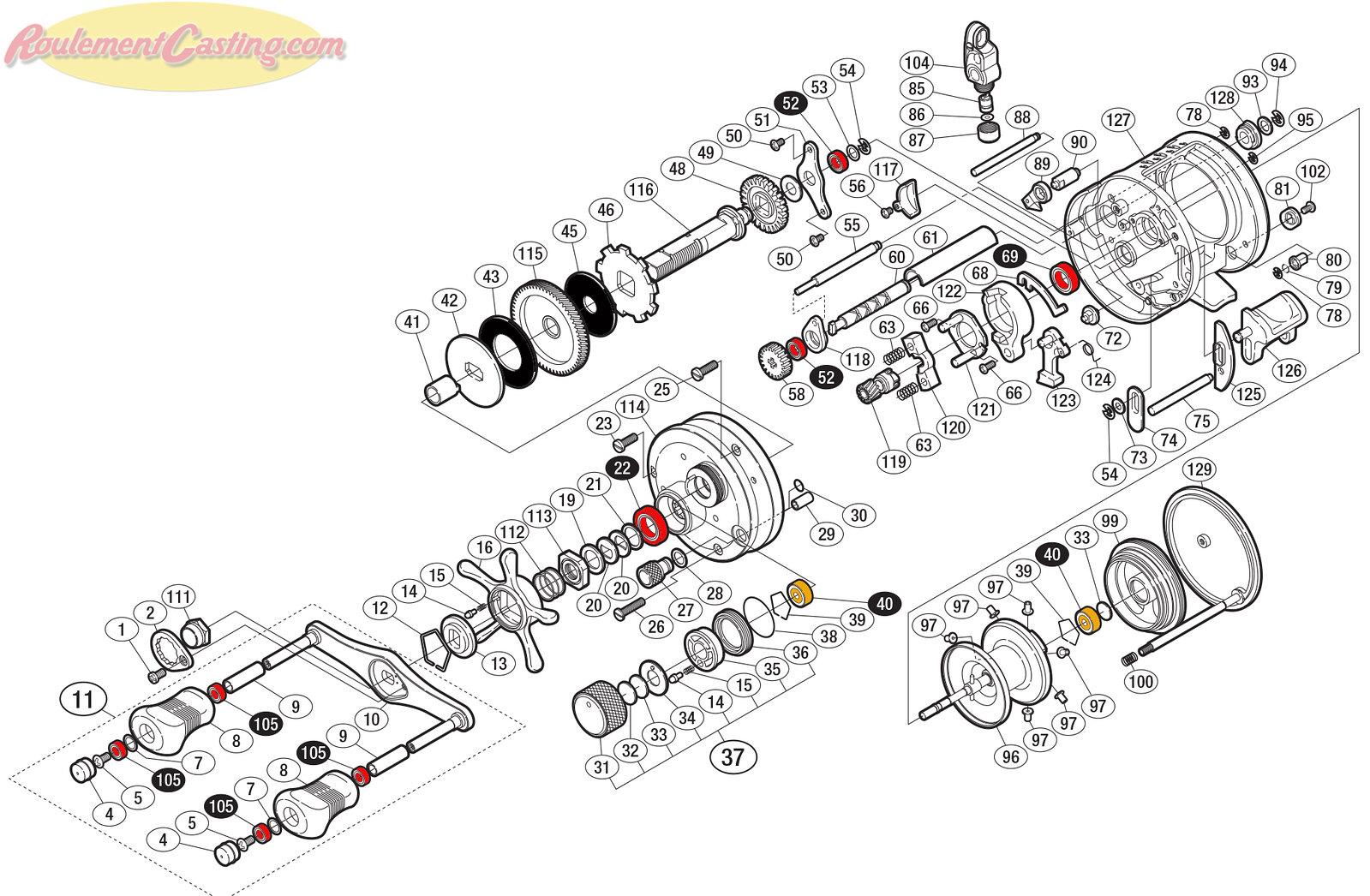 Schéma Shimano Conquest 10' 201 type J-HG