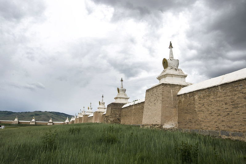 Stupas at Karakorum, ancient capital of Mongolia