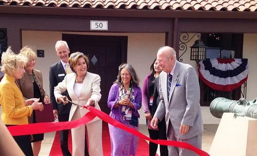 Congresswoman Pelosi attends Presidio Officers' Club Opening Celebration