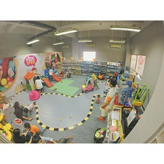 The kids Area on #indonesia #international #motorshow #iima2014. Your kids can chill and play here.