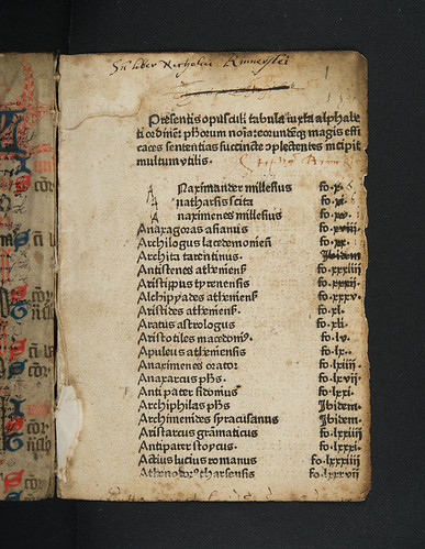 Ownership inscriptions in Burlaeus, Gualtherus: De vita et moribus philosophorum