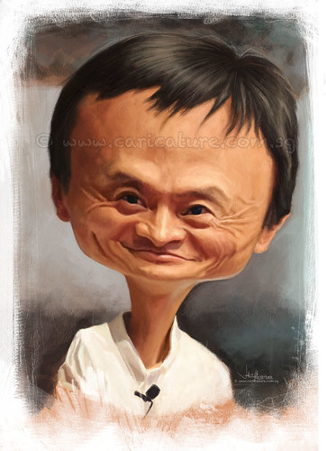 digital caricature of Jack Ma (watermarked)