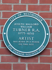 Photo of Joseph Mallord William Turner green plaque