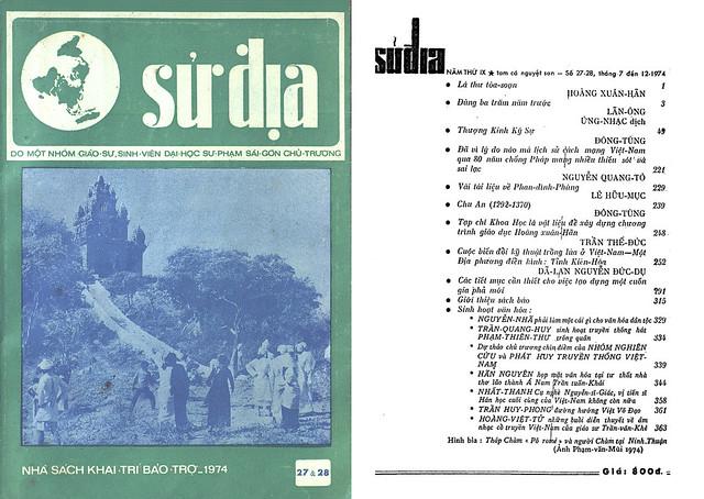 Tập san Sử Địa - Số 27 & 28 – Tháng 7 đến 12-1974