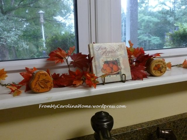 fall decor window
