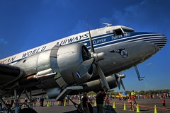 airline, aviation, narrow-body aircraft, airliner, airplane, propeller driven aircraft, vehicle, douglas dc-3, aircraft engine,