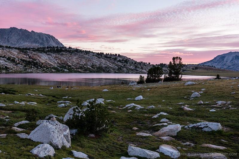 Twilight at Evelyn lake