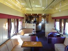 Indian Pacific train trip. Gold Class Club car.