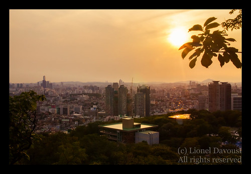 Seoul at sunset