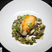 Roasted Cod with Mushrooms, Herbal Ginger - Scallion.Condiment