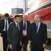 Il Ministro Maurizio Lupi visita il Frecciarossa 1000 esposto alla Fiera Internazionale di Berlino