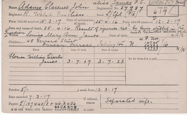 6 - Adams Clarence John - murdered
