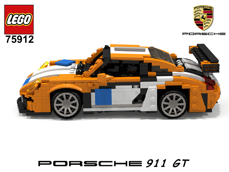 porsche 911 gt 991 lego nr 75912 2015 recreated a photo on flickriver. Black Bedroom Furniture Sets. Home Design Ideas