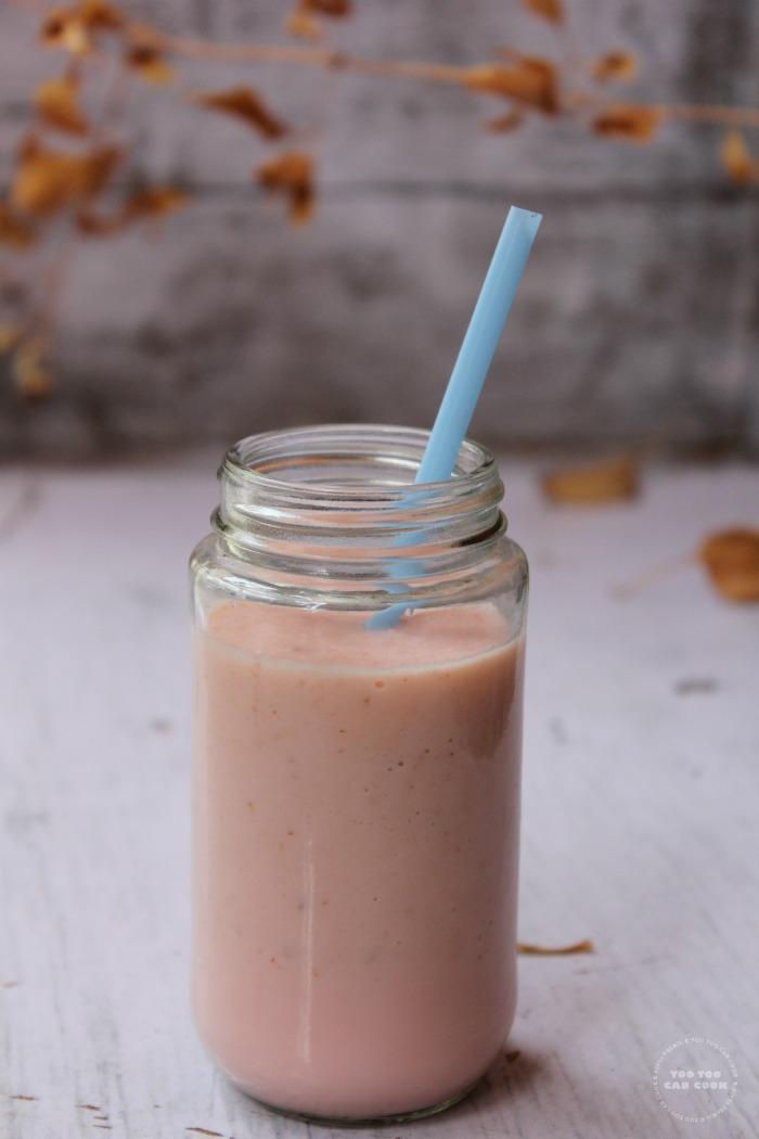 apple milkshake using rose essence