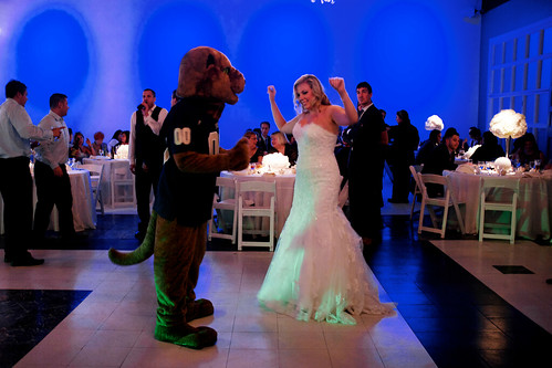 Dancing with the Pitt Panther.