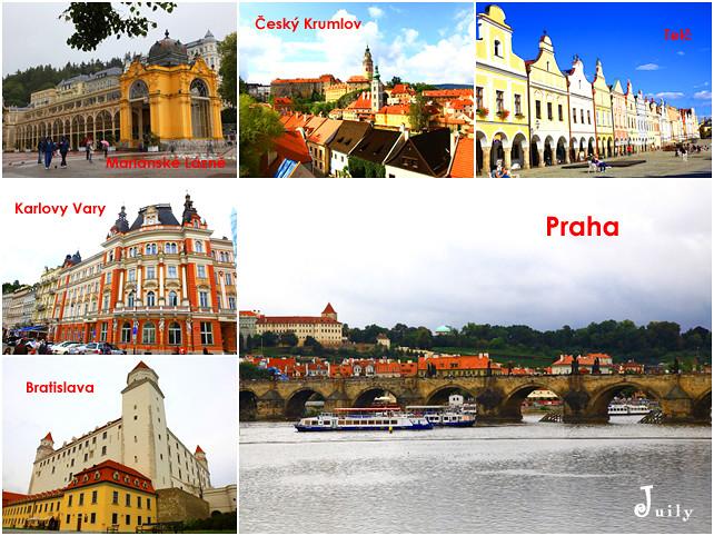 捷克&斯洛伐克14天行程總紀錄