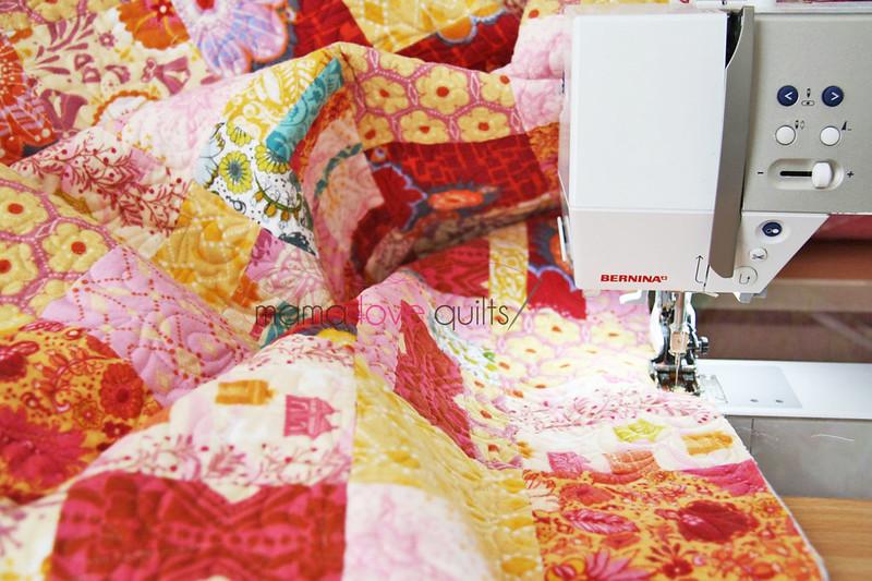 Anna Maria Horner Flannel Quilt_Binding Prep