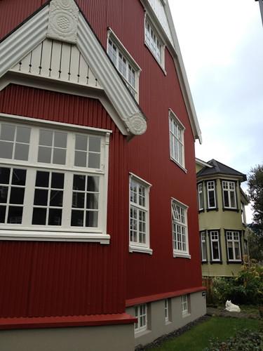 Iceland Reyjavik colourful houses