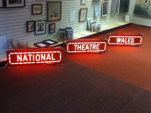 National Theatre Wales logo in Bangor
