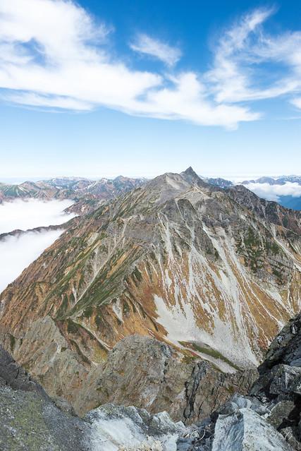 北穂高岳山頂からの景色