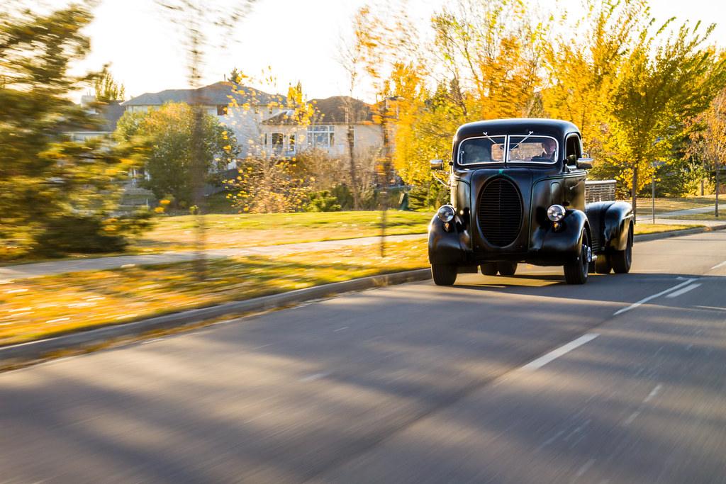 Dad's 38 Ford Road Shots