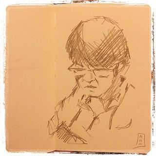 #japon #moleskine #pentel #kerry #urbansketch #portraits