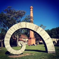 Una espiral de madera. Colonia del Sacramento, Uruguay