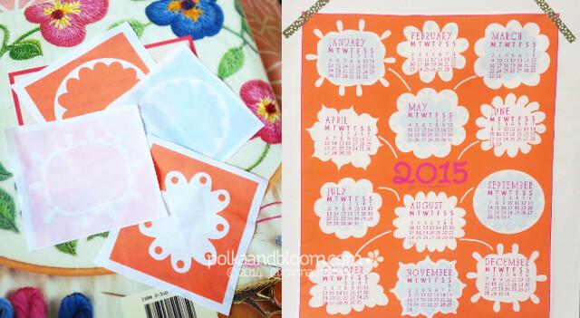 2015 fabric calendar