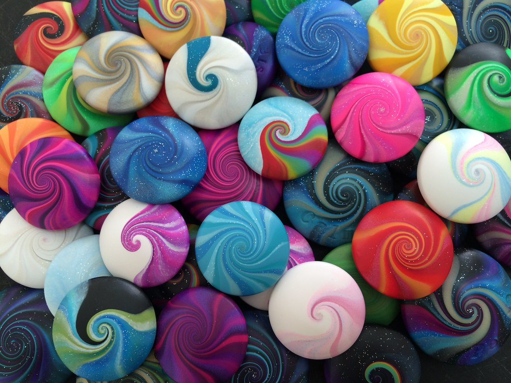 Polymer Clay Beads by Lizzi Bizzi