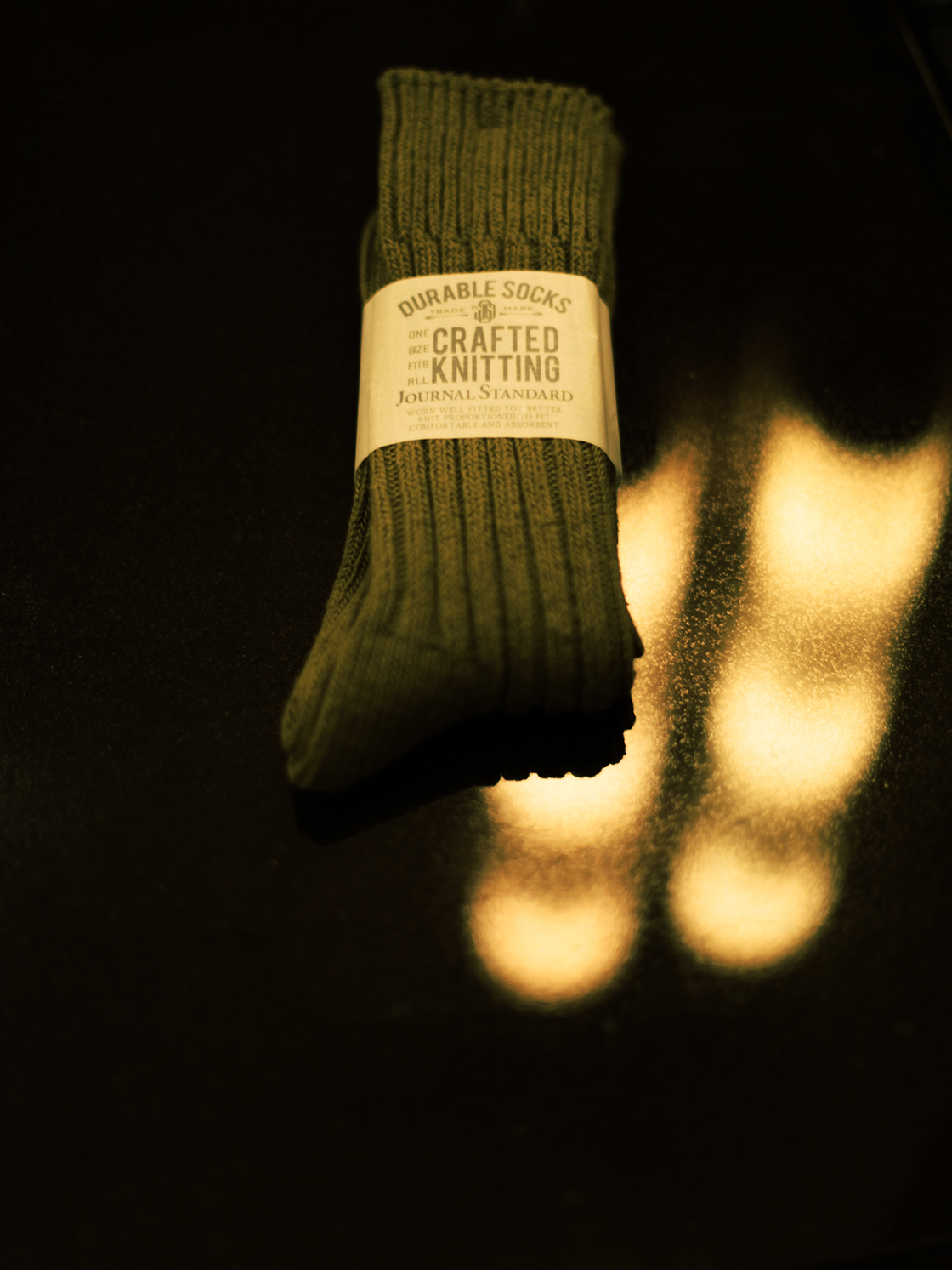 crafted knitting socks