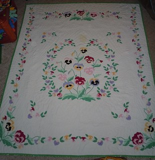 Last of Pansy Kit Quilt Repair
