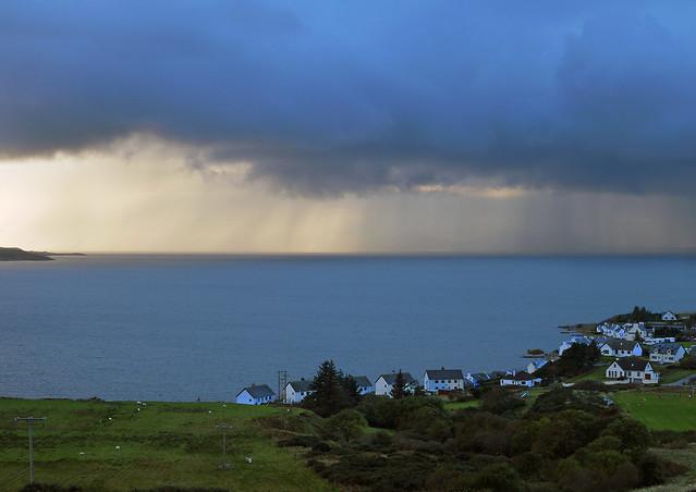 Guid Scottish weather over Gairloch