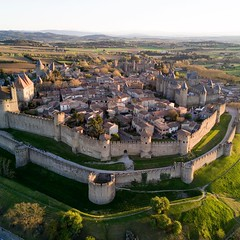 Today we took a little detour to Carcassonne, France today on our return trip to Paris. Our hotel had a balcony almost custom made for launching the drone and I thought I would make a few photos. The spring weather has warmed to the point we were able to