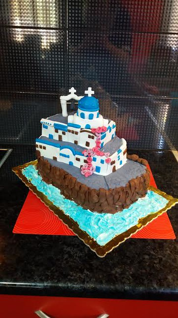 Santorini the Best Greek Island Cake by Barbara Panagiotaki