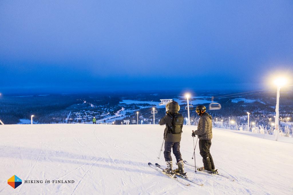 David & Nathaniel pondering this night skiing thing