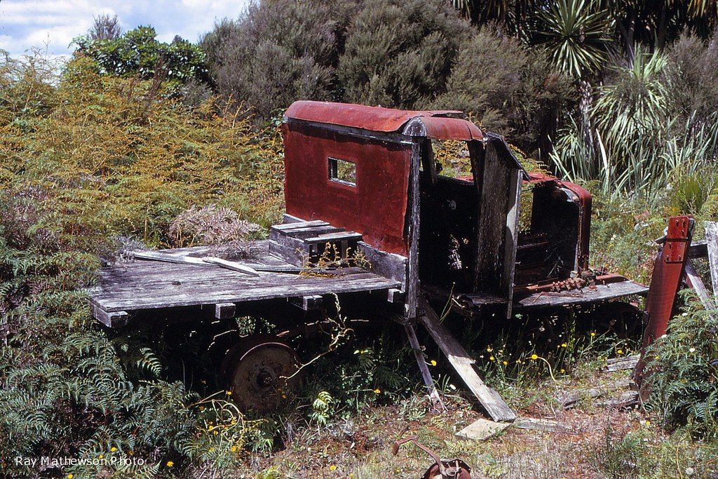 Abandoned railcar Ngaroma Jan 1970
