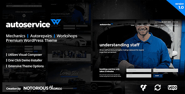 AutoService WordPress Theme free download