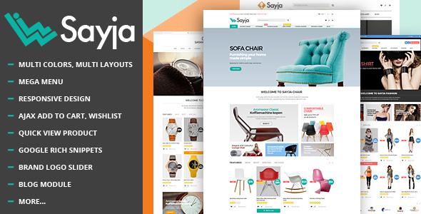 Sayja v1.0 - Multipurpose Responsive Prestashop Theme