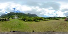 From the Kilonani Mauka Overlook at the Ho'omaluhia Botanical Garden in Kaneohe, Ko'olaupoko, Oahu, Hawaii - a 360° equirectangular VR
